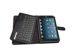 """Universal Bluetooth Keyboard Case Cover For 7"""" 8"""" inch Tablet PU Leather, including iPad Mini, 2 &#59; Samsung Galaxy Tab3, Tab 4&#59; Google Nexus 7&#59; Dell Venue 8 Pro&#59; Acer Iconia Tab A100 Black"""