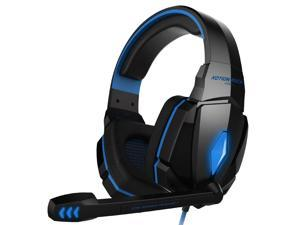KOTION EACH G4000 Stereo Noise Cancelling Gaming Headset with Mic HiFi Driver LED Light for PC - Blue + Black