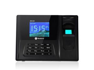Realand ZDC20 Fingerprint Time Clock Attendance Biometric Time Attendance Recorder System(2.8 Inch TFT screen,Fingerprint + Password + ID Card,Support USB Flash Drive Download) black