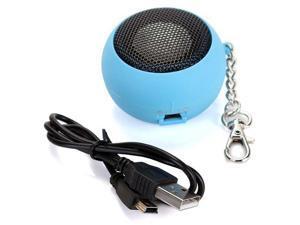 Round Mini Portable Speakers Speaker Audio Speakers USB MP3 MP4 BLEU