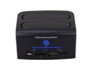 "Tooploo 2.5 "" 3.5"" IDE & SATA eSATA USB 2.0 USB Port OTB 5 in 1 card reader hard disk HDD Docking Station"