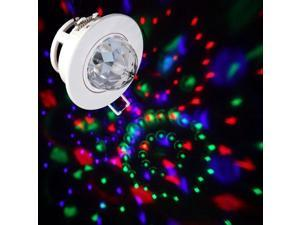 LED RGB Ceiling Stage Light 3W Full Color Automatic Voice-activated Rotating Lighting DJ Disco Club Party Bars Home Decoration Lamp Lights