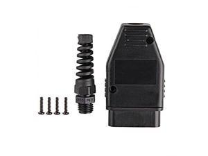 OBD / OBD2 / OBDII / EOBD / JOBD / OBD / ODB2 / OBDII / OBD2 / OBD 11 / ODB11 / J1962 16 pins male connector plug adapter cable connector + housing + SR + screws