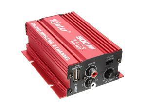kinter Mini Hi-Fi Stereo Audio Amplifier Amp Subwoofer For Car Motorcycle 2 Channel 12V
