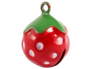 Mini Red Strawberry Shaped Decorative Round Bell for Dog Cat Pet