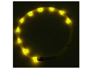 Waterproof Rechargeable USB LED Flashing Light Band Belt Safety Pet Dog Collar yellow