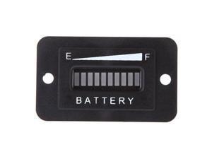 36 Volt Golf Cart Digital LED Battery Status Charge Indicator Monitor Meter Black