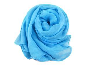 Sky Blue Trendy Summer Care Solid Color Scarf Shawl For Women