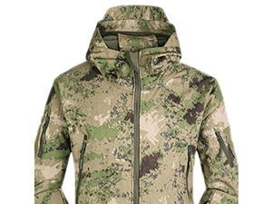 Tactical Gear Shark Skin Softshell Outdoor Jacket  Men Fleece Waterproof Army Camouflage Hoody Hikin