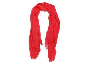 Watermelon Red Trendy Summer Care Solid Color Scarf Shawl For Women