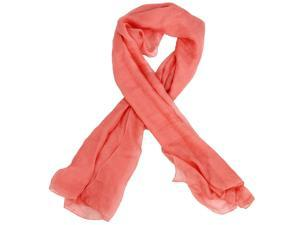 Flesh Pink Trendy Summer Care Solid Color Scarf Shawl For Women