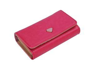 THZY Multifunction Clutch Wallet Zip Bag Phone Case For iPhone 4 4S 5 5S Galaxy S2 S3 HOT SALE Rose