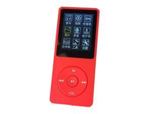 "MP3 Player (4GB, screen 1.8 "", radio, voice recorder), 70 hours Super duration of radiation,  Includes earphones, USB cable, red"