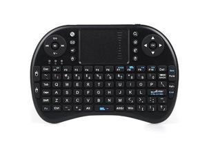 2.4G Mini Keyboard with Touch Pad QWERTY Handheld Wireless Touchpad for portable PC Android TV Box HTPC (black)