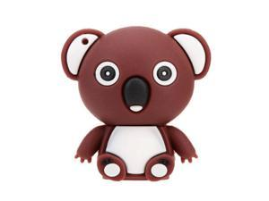 Have Shaped USB 2.0 Flash Disk Drive Storage Memory Stick Thumb Pen Drive  Mini Animal Cartoon brown 4GB
