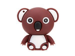 Have Shaped USB 2.0 Flash Disk Drive Storage Memory Stick Thumb Pen Drive  Mini Animal Cartoon brown 4GB