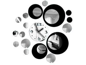 Mirror effect Wall sticker  with clock/mirror clock stickers /Decorated room wall/DIY room/Modern Wall  Clock Stickers