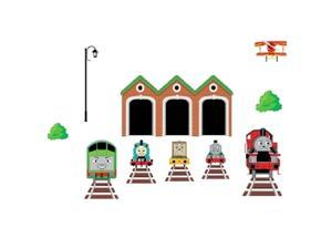 SODIAL Removable wall stickers childrens room wall stickers nursery Thomas train wall stickers