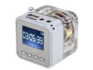 NIZHI Mini USB Portable Digital Speaker for MP3 / 4 Music Player Micro SD / TF (Silver)