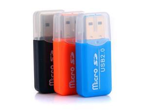 SODIAL 3 x Mini drive USB 2.0 Memory Card Reader Adapter Stick Micro SD TF Card Reader