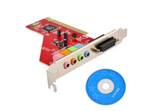 4 Channel 5.1 Surround 3D PCI Sound Audio Card for Desktop Computer