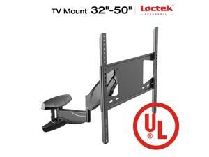LOCTEK S1 Articulating Arm Full Motion TV Wall Mount Bracket for 32-50inches TV, Gas Spring with Cable Management system