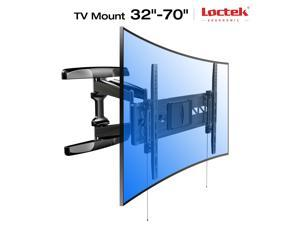 Loctek Curved TV Wall Mount Heavy-Duty Ultra-Slim Full Motion Curved Flat Panel TV Mount (32-70 inches)