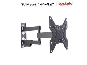 "TV Wall Mount Bracket for 14""- 42"" Full Motion Interactive Articulating LCD LED VESA 200x200 - up to 55 lb fits for most of Samsung/Coby/LG/VIZIO/Sharp/Sony/Toshiba/Seiki tv++"