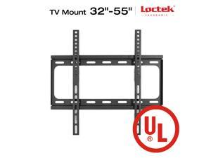 "Loctek UL Listed Heavy Duty F2S Fixed TV Wall Mount Low Profile for TV Size 32""-55"" LED LCD Plasma Flat Screen"