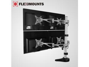 FLEXIMOUNTS M16 Quad LCD Monitor Stand Desk Mount for 10''-27'' Samsung/Dell/Asus/Acer/HP/AOC LCD Computer Monitor (Quad LCD Mount)
