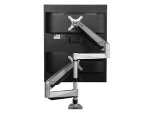 """LOCTEK D7SD Dual LCD Adjustable Monitor Stand, Dual Stacking Arm, Desk Clamp/Grommet Base Use for 2 LCDs, Holds up to 27"""" LCD Monitors"""