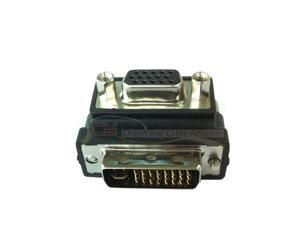 Right Angled 90 Degree RGB VGA SVGA Female To DVI 24+5 male convertor 24+5 DVI-I to VGA LCD PC Adapter