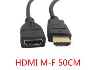 HD HDMI Male to HDMI Male to HDMI Female high-quality gold-plated female extension cable