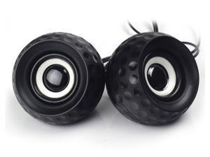 Golf ball shape 2.0 channel usb powered mini speakers 3.5mm usb multimedia small audio desktop laptop speaker