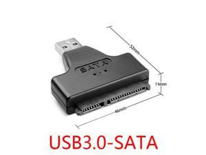 "USB 3 0 to SATA 7 15 22Pin Convertor Adapter for 2 5"" Hard Disk Case"