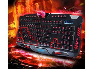 3 color LED Backlight wired professional game keyboard gaming keyboard + game mouse set for WOW/LOL/DOTA game /Mechanical hand backlight keyboard