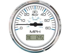 Faria 33726 GPS SPEEDO 60MPH CHES SS BLACK