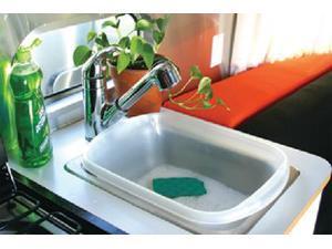 Camco Mfg Plastic Rv Dish Pan Natural 43516