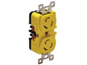 Marinco/Guest/AFI/Nicro/BEP 4700CR DUPLEX RECEPTACLE 15A/YELLOW