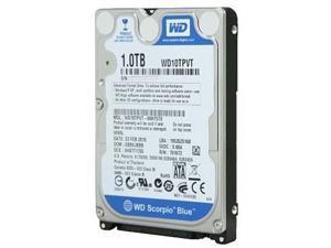 WD 1 TB  Mobile Hard Drive: 2.5 Inch, 5400 RPM, SATA II, 8 MB Cache - WD10JPVT Bulk Drive