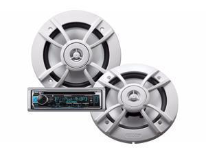 New Kenwood Pkg-Mr365bt Marine Bluetooth Stereo & 6.5 Speaker Package
