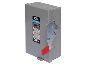SIEMENS GF322N 60A 240V 3-Pole 4-Wire Fusible General Duty Safety Switch, NEMA-1