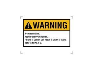 "IDEAL  44-892  NEC ARC Flash Warning Self Sticking Polyester 3-1/2"" x 5"""