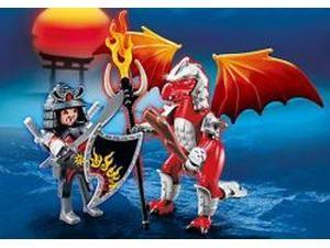 Fire Dragon With Warrior
