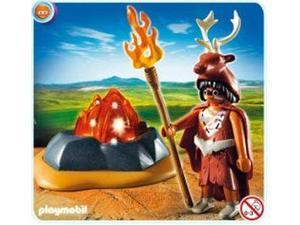 Fire Guardian With Led Fire Rock Stone Age Playmobil