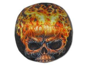 Flaming Skull Pannel Hacky Sack Kick Bag