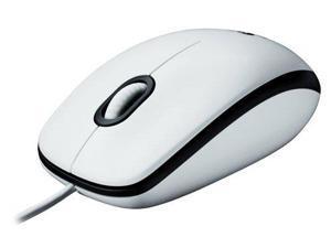 Logitech Mouse M100 White, 910-001603, 910-001605