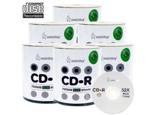 Smartbuy CD-R 52X 700MB 80Min Logo Top Blank Data Recordable Disc (600 Packs)
