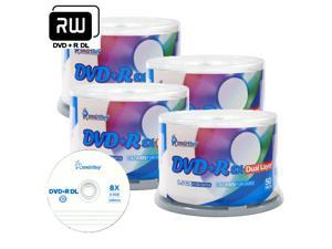 Smartbuy 8X DVD+R DL 8.5GB Dual Layer Logo Top Music Video Data Recordable Disc (200 Packs)