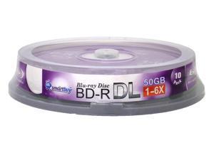 Smartbuy 6X BD-R DL 50GB Dual Layer Logo Top Video Audio Photo Data Recordable Disc